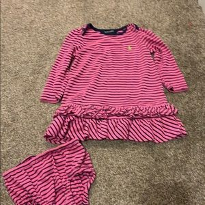 Ralph Lauren Long Sleeved dress set Size 18m
